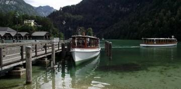 Orlie hniezdo a jazero Königsse