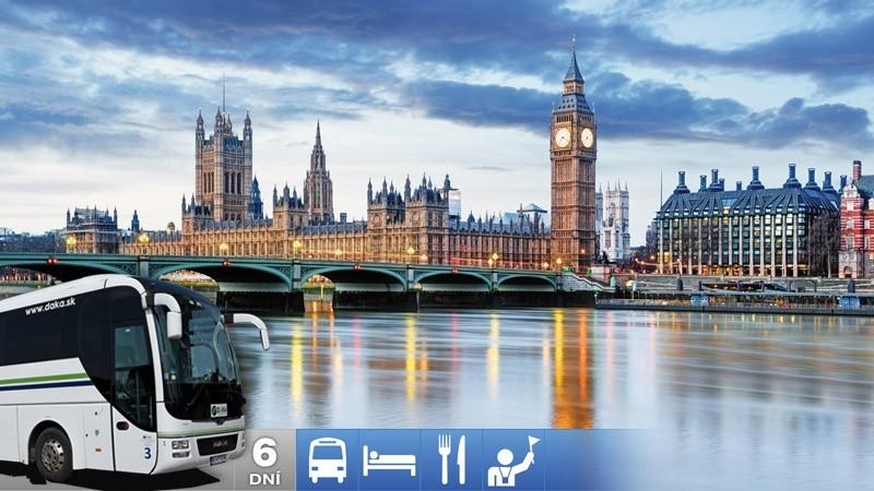 6-dňový autobusový zájazd: Paríž a Londýn
