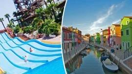 Ostrovy Benátskej lagúny a kúpanie v Lido di Jesolo