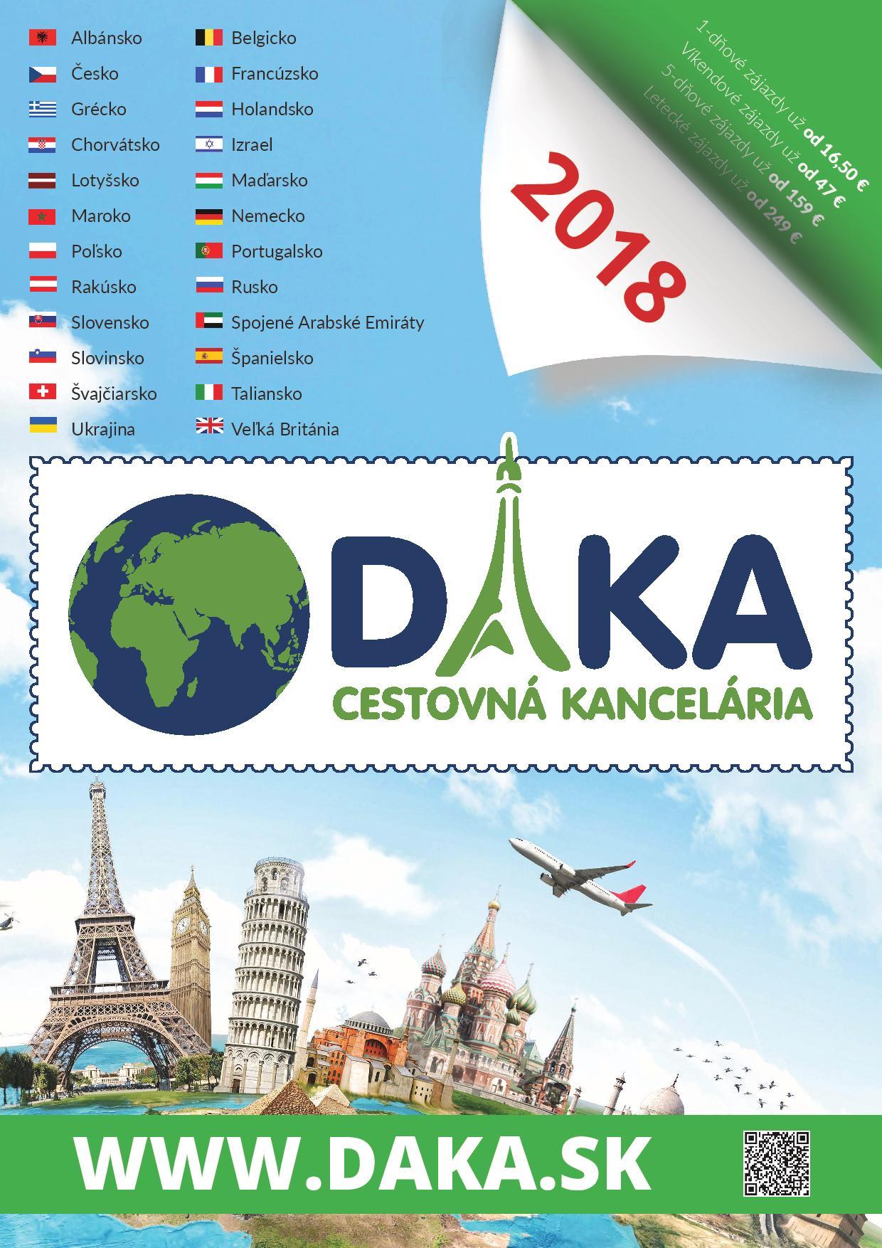Katalóg Cestovnej kancelárie DAKA 2018